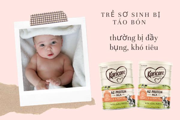 táo bón ở trẻ sơ sinh, những dấu hiệu trẻ sơ sinh bị táo bón, trẻ sơ sinh bị táo bón mẹ nên ăn gì, cách trị táo bón cho trẻ sơ sinh tại nhà